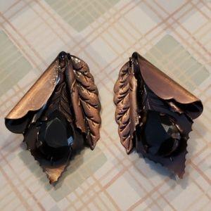 Jewelry - Vintage OOAK Artisan Handmade Clip-On Earrings
